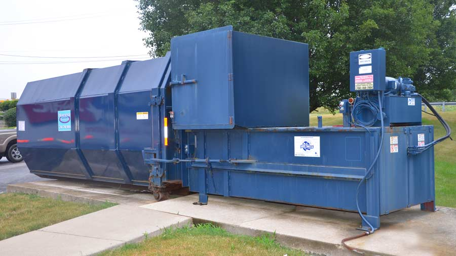 Landfill Compactor Maintenance : Commercial waste and recycling compactors homewood disposal