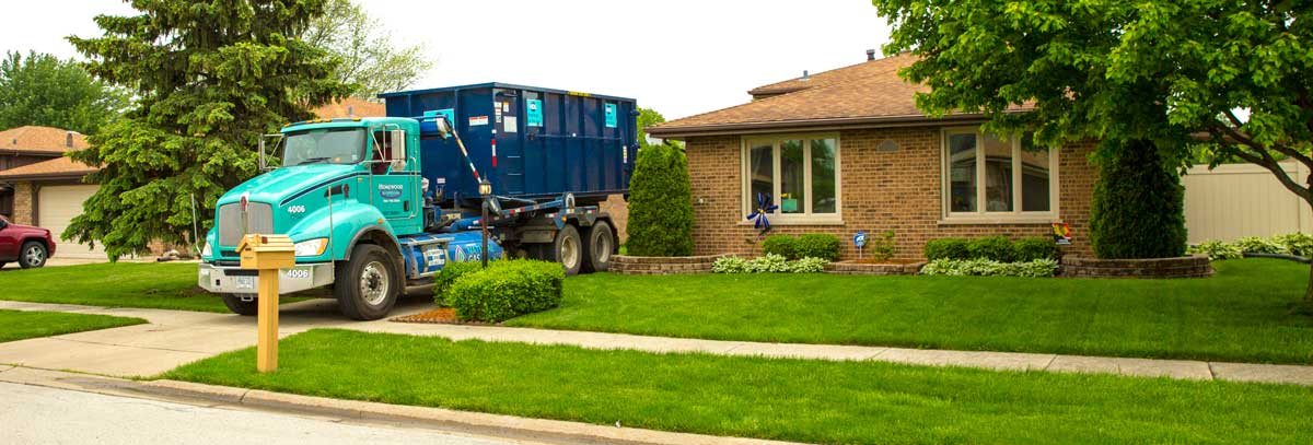 dumpster large delivery