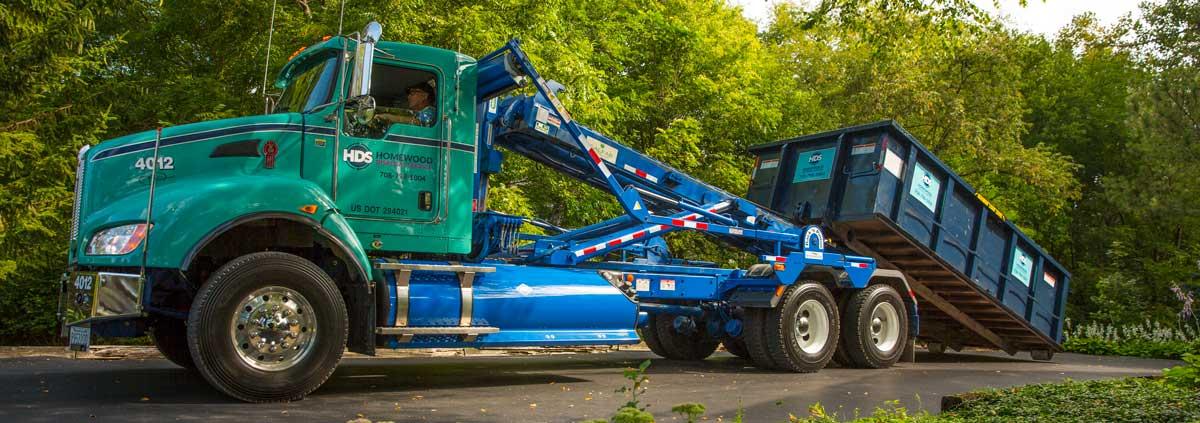 dumpster rental truck