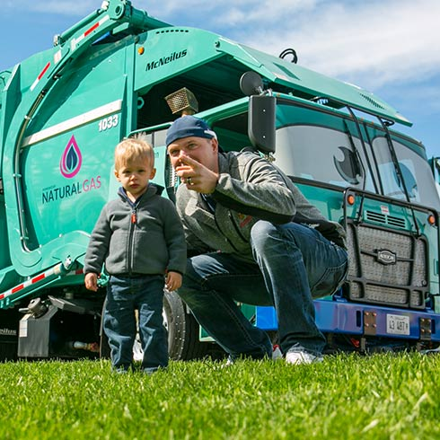wendy the waste truck image with kid