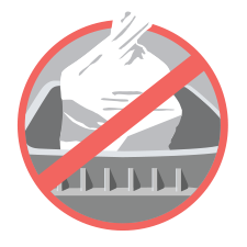 Keep recyclables loose in your cart.